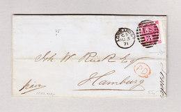 GB London Lombard St. 5.8.1871 Brief Mit Inhalt Nach Hamburg Mit 3 Pence E.F. - 1840-1901 (Victoria)