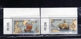 FAEROER FAROE ISLANDS Féroé Faroer Føroyar 1992 EUROPA CEPT UNITA COMPLETE SET SERIE COMPLETA MNH - Färöer Inseln