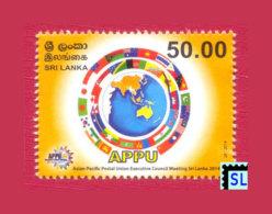 Sri Lanka Stamps 2014, APPU, Asian - Pacific Postal Union, MNH - Sri Lanka (Ceylon) (1948-...)