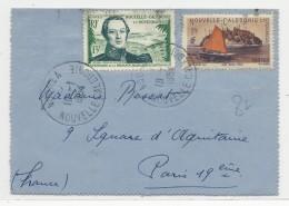 1954 - CALEDONIE - CARTE-LETTRE De NOUMEA Pour PARIS - Nueva Caledonia