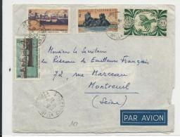 1951 - CALEDONIE - ENVELOPPE Par AVION De NOUMEA Pour MONTREUIL - Nueva Caledonia