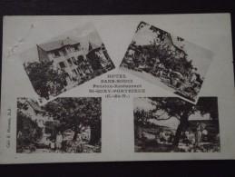 St-QUAY-PORTRIEUX (Côtes-d´Armor) - HÔTEL SANS-SOUCI - Pension-Restaurant - Multivue - Animée - 11 Juillet 1939 - Saint-Quay-Portrieux