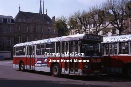 Photographie D´un Ancien Bus Saviem Ligne 10 Pte Gle De Gaulle à Rouen Avec Pubs Monoprix, Cafés Ti-Tane Et Maxicoop - Reproductions