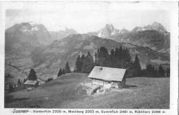 SAANEN → Panorama-Karte Mit Staldenflüh-Meielberg-Gummfluh-Rüblihorn Anno 1920 - BE Berne