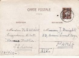 Entier Petain ST Louis Senegal Pour Paris 1942
