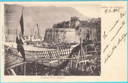 KORCULA - CURZOLA - Cantiere Di L. Depolo ( Brodogradiliste ) * Croatia * Travelled 1901.* Shipyard Chantier Naval Werft - Croazia