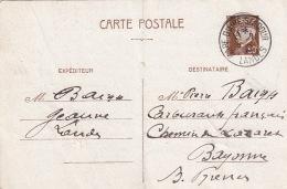 Entier Petain Gare D'aire S/L'adour Landes 1942