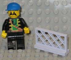 279/155  LEGO RINGHIERA BALUSTRADE PARAPET PAREPETTO GRIGIO GRIS ORIGINALE COSTRUZIONI - Lego System