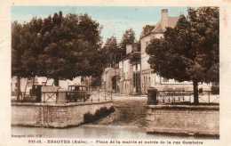 CPA - ESSOYES (10) - Aspect De La Rue Gambetta Et De La Place De La Mairie En 1936 - Essoyes