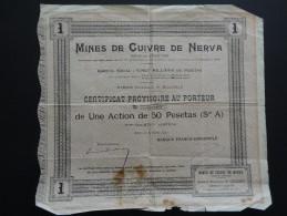 ACTION MINE DE CUIVRE DE NERVA 1907 - Mines