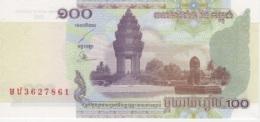 (B0438) CAMBODIA, 2001. 100 Riels. P-53a. UNC - Cambodia