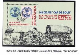 ROUMANIE 1999 JOURNEE DU TIMBRE BLOC 250 MNH - 1948-.... Républiques