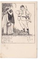 Anti-German WWI Propaganda Belgium, Yzer 1915 Monument,, C1910s Vintage Postcard - War 1914-18