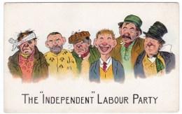 Independent Labour Party, Artist Image Political Satire C1910s/20s Vintage Postcard - Satirical