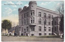 Nebraska State Prison, Lincoln NE, Street Scene, C1900s Vintage Postcard - Prison