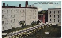 Missouri State Prison, Jefferson City MO, Convicts Go To Dinner Prison Yard Scene, C1900s Vintage Postcard - Prison