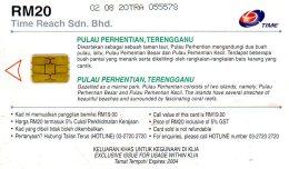 TELECARTE MALAISIE  *RM20  Plage Beach  V - Malaysia