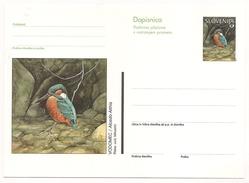 Slovenia: 1999 Illustrated Postal Stationery Card, Kingfisher, Acedo Atthis  Unused - Slowenien
