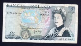GRAN BRETAGNA - ENGLAND-REGNO UNITO 5 POUNDS 1971/91 - 1952-… : Elizabeth II
