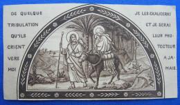IMAGE PIEUSE (vers 1930) : LA FUITE EN EGYPTE / The Flight Into Egypt HOLY CARD / SANTINO - Devotion Images