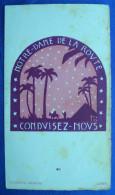 IMAGE PIEUSE (vers 1930) : NOTRE DAME DE LA ROUTE - LA FUITE EN EGYPTE / The Flight Into Egypt HOLY CARD / SANTINO - Devotion Images