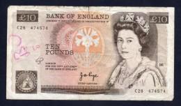 GRAN BRETAGNA - ENGLAND-REGNO UNITO 10 POUNDS 1978/91 - 10 Pounds