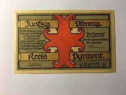 Allemagne Notgeld Bad Pyrmont 50 Pfennig 1921 NEUF - Germany
