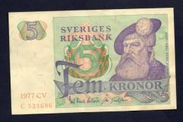 Svezia 5 Kronor 1977 - Svezia