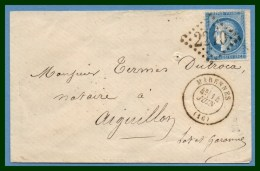 LSC MARENNES (16) T17 GC 2210 1872 - Marcofilie (Brieven)
