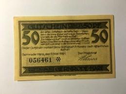 Allemagne Notgeld Gernrode 50 Pfennig 1921 NEUF - Germany