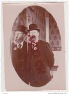 Au Plus Rapide Humour Jeu De Miroir Albuminé 6.5 Par 9 Cm - Anciennes (Av. 1900)
