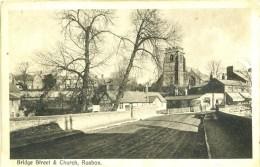 CLWYD - RUABON - BRIDGE STREET AND CHURCH Clw356