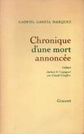Chronique D'une Mort Annoncée Par Gabriel Garcia Marquez - Sin Clasificación