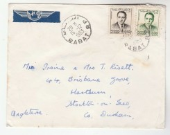 1963 Air Mail  MOROCCO Stamps COVER To GB - Morocco (1956-...)