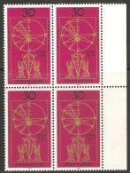 West Germany 1971 Mi# 688 ** MNH - Block Of 4 - Johannes Kepler, Astronomer / Space - Europe