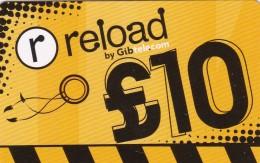 Gibraltar, GSM Recharge Card, 2 Scans.