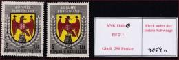 4064n: Österreich ANK 1140 Burgenland Mit Gutem Plattenfehler, Gestempelt - 1945-.... 2. Republik