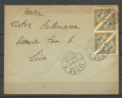 Estland Estonia Estonie 1923 Brief Mit Michel 14 In 4-Block - Estland