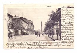 6100 DARMSTADT, Rheinstrasse Mit Post, Strassenbahn / TRam, 1902, Alben-Druckstelle - Darmstadt