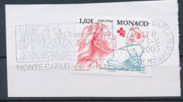 Monaco YT 2354 Obl Sur Fragment Avec Flamme - Monaco