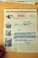 Document Commercial - LONGUEVILLE Par DONVILLE LES BAINS (Manche) - CONSERVES DU MANOIR  - 1934 (CL 478) - 1900 – 1949