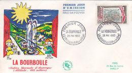 Enveloppe FDC 1erJour LA BOURBOULE  Oblitérée 28 Mai 60 La Bourboule - FDC