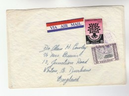 Air Mail COSTA RICA COVER Stamps 1960 WORLD REFUGEE YEAR , PHOSPHORUS Industry MATCH To GB Airmail Label - Costa Rica