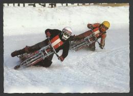 Hungary, Motorcycle Sport,Ice-race, Around 1977. - Sport Moto