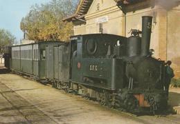 CPM Carrilet Sant Feliu De Guixols-Girona Locomotora Série 1 Al 6 - Tipus 031T - Stations With Trains
