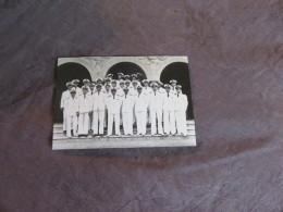 Photo Ancienne Des Officiers  De L´état Major Du Navire Dunkerque Coulé à Mers-el-Kébir - Barche