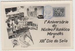 Maximum Card - 1º Aniversário Do Núcleo Filatélico Mirandês E XIIIº Dia Do Selo - 1967 - Tarjetas – Máximo