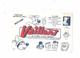 Buvard VAILLANT, Le Journal Le Plus Captivant,  C'est PIF Qui Vous Le Dit, - Buvards, Protège-cahiers Illustrés