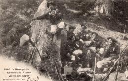 ALPES MARITIMES 06    MILITARIA CHASSEURS ALPINS CASSE CROUTE - Autres Communes