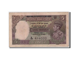 Birmanie, 5 Rupees, Non Daté (1945), KM:26b, TB - Myanmar
